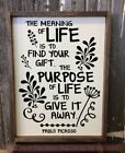 Meaning Of Life Inspire Wall Art Decals Motivational Decor V