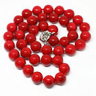 """Long 16""""- 36"""" 10mm Red South Sea Shell Pearl Gemstones Round Beads Necklace A01"""