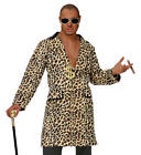 Mens Male Leopard Print Pimp Suit Fancy Dress Costume Outfit M To XL