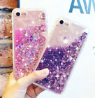 Bling Glitter Liquid Dynamic Water Quicksand Phone Cover Case for iPhone 8 7 6 X