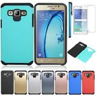For Samsung Galaxy J7 Neo/NXT/Core Shockproof Armor Slim Case+Screen Protector