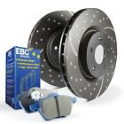 EBC Brakes S6KF1077 S6 Kits Bluestuff and GD Rotors Fits 84-87 Corvette