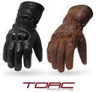 Kyпить TORC Premium Leather Motorcycle Extended Length Gloves XS - 3XL - Donner Antique на еВаy.соm