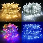 Mains 31V Plug In Fairy String Lights Christmas Clear Wire Bedroom Garden Decor