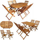 Outdoor Garden Dining Set 5/7 Pcs Patio Wooden Folding Table Chairs Furniture Uk