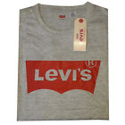 Levis Crew Neck Long Sleeve T-Shirts Men's With Bat Wing Logo on Chest