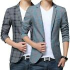 Fasion Korea Mens Slim Chic Stylish Casual one Button Suit Coat Blazers Casual