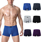 Mens Boxer Briefs Bamboo Fiber Breathable Underwear Trunks Underpants Knickers_
