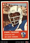 1963 Fleer #77 Earl Faison Chargers EX $11.0 USD on eBay
