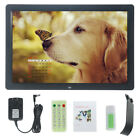 17'' HD 1080P Digital Photo Frame Picture Advertising + Remote Control Gift