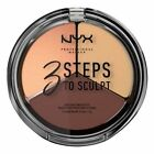 NYX PROFESSIONAL MAKEUP 3 Steps To Sculpt Face Sculpting Palette, Medium, 0.54 Ounce