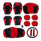 13x Universal Car Seat Covers W/HeadRest/steering wheel cover/ Durable K0X5 $20.75 USD on eBay