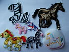 Horse & Foal or Character Horse/Zebra Iron/Sew On Applique / Patches