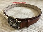 New Sonoma Women's Brown Faux Leather Belt with 30 tag From Kohls Size S M L XL