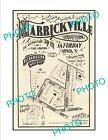 LARGE A3 HISTORIC POSTER OF SYDNEY NSW LAND SALE POSTER, MARRICKVILLE c1900