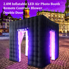 2.8/3M Inflatable LED Light Photo Booth Tent Birthday Wedding 7 Color +Control