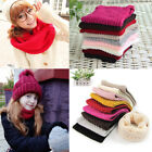 Fashion Women Men Winter Warm Knitted Ring Scarves Thick Cotton Soft Neck Warmer