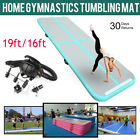 20ft inflatable air track gymnastics tumble track  tumbling mat w/ Free Air Pump image