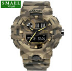 SMAEL Men's Waterproof Watch Military Digital Analog Camo Sports Wristwatch