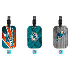 Miami Dolphins Football Wood Travel Bag Luggage Tag Accessory