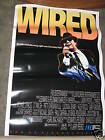 Wired 1989 Original VHS Movie Poster 27x41 John Belushi Michael Chiklis