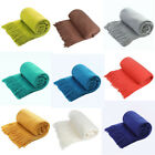 Soft Throw Blanket Soft Warm Textured Solid Knitted Sofa Bed Home Office Decor image