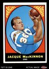 1967 Topps #124 Jacque MacKinnon Chargers EX $1.9 USD on eBay