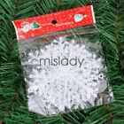300pcs Classic White Snowflake Ornaments Christmas Tree Party Home Decor US