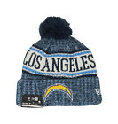 NEW ERA NFL Los Angeles Chargers OF18 Blue Yellow Pom Adult Beanie Hat Men Knit $28.0 USD on eBay