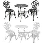 Garden Bistro Dining Set 2 Chairs & Table Outdoor Patio 3pcs Furniture Durable