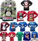 Full Sleeves I Love Christmas Knit Sweater Top Unisex Ladies Winter Wear Jumper