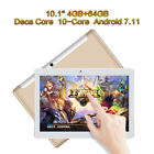"10.1'' 7"" Tablet PC Android 7.1 Deca Core 64GB 10"" HD WIFI Dual 2 SIM 4G Phablet"