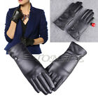 Women's Lively Leather Winter Super Warm Touch ScreenGloves Cashmere Bow Mittens