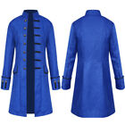 Vintage Steampunk Tailcoat Jacket Gothic Victorian Frock Coat Mens Cosplay Suit