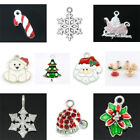 Christmas Xmas Charms Pendants Jewellery Making Enamel Cz - Pick A Charm (003)
