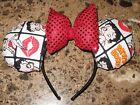 Betty Boop fabric Ears on Headband with sequins bow $12.0 USD on eBay