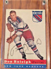 1954-55 TOPPS HOCKEY CARD DON RALIEGH #53 NICE SHAPE! (2ND CARD)