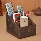 Details about   Remote Control Organizer Caddy PU Leather Storage Holder TV Stan