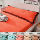 6 Colors Long Body Pillowcase Pillow Cover Lace Edge Warm Protector Parts ZB image
