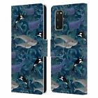 OFFICIAL MICKLYN LE FEUVRE PATTERNS LEATHER BOOK CASE FOR SAMSUNG PHONES 2