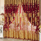 Flower Pattern Voile Curtains Living Room Window Curtain Tulle Sheer Curtains X1