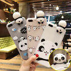 3D Cute Panda Pattern Rubber Phone Cover Case Thin For iPhone XS Max 7 8 6s Plus