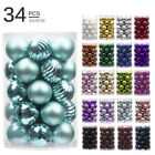 34PC 40mm Cute Xmas Christmas Tree Ball Bauble Hanging Home Party Ornament Decor