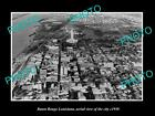 OLD LARGE HISTORIC PHOTO OF BATON ROUGE LOUISIANA, AERIAL VIEW OF CITY c1950