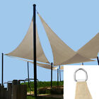 12ft Sun Shade Sail Outdoor Patio Pool Lawn Yard Triangle Canopy Cover UV Block
