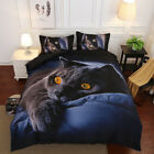 3D Cat Printing Bedding Pillowcase Duvet Cover Bed Sheet Set Good Quality W2B5 image