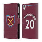 WEST HAM UNITED FC 2018/19 PLAYERS HOME KIT 2 LEATHER BOOK CASE FOR HTC PHONES 2