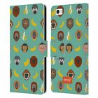 OFFICIAL emoji® MONKEYS AND ANIMALS LEATHER BOOK WALLET CASE FOR HUAWEI PHONES 2