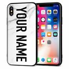 Customized Name DIY Slim Silicone Phone Case Cover For iPhone Xs Max Xs 8 Floral