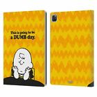OFFICIAL PEANUTS CHARLIE BROWN LEATHER BOOK WALLET CASE FOR APPLE iPAD